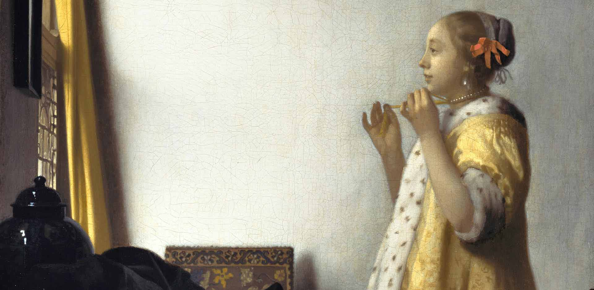 Johannes Vermeer, Woman with a Pearl Necklace, 1663/63 (detail)