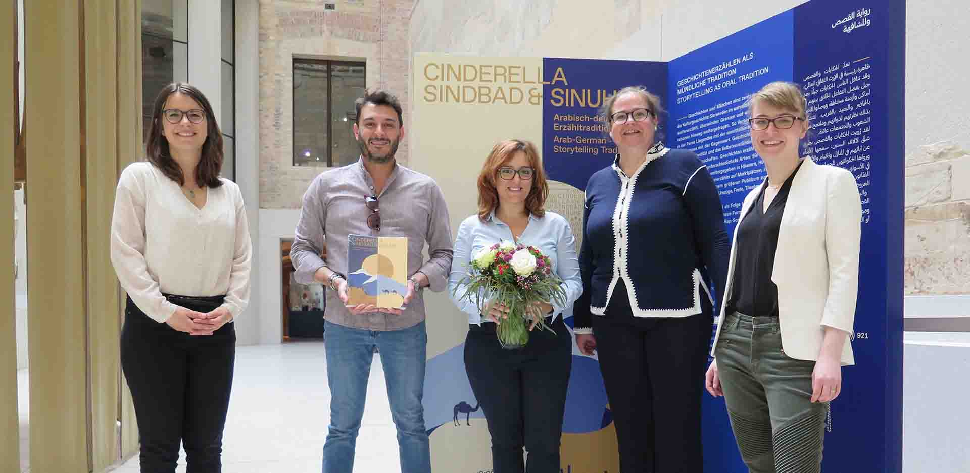 100,000th Visitor Views 'Cinderella, Sindbad & Sinuhe' at the Neues Museum
