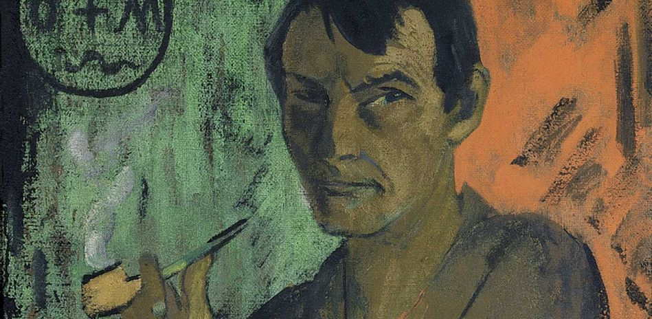 Otto Mueller, Self Portrait with Pentagram, around 1924 (Detail)