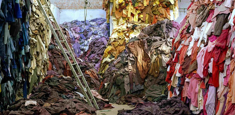 Tim Mitchell, Clothing Recycled, 2005, detail