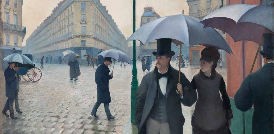 Gustave Caillebotte, Rue de Paris, temps de pluie (Straße in Paris, Regenwetter), Detail, 1877, Art Institute of Chicago