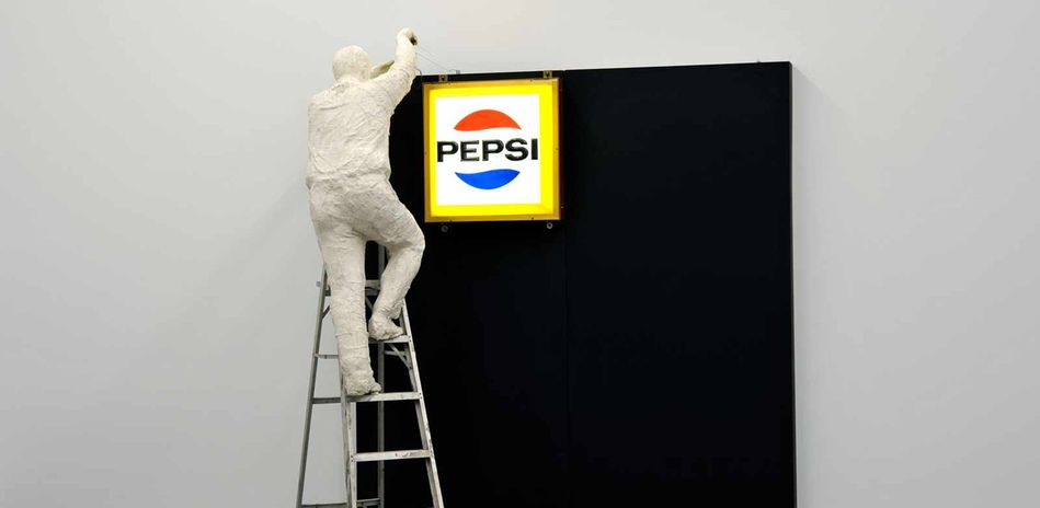 George Segal, Man Installing Pepsi-Sign, Detail, 1973