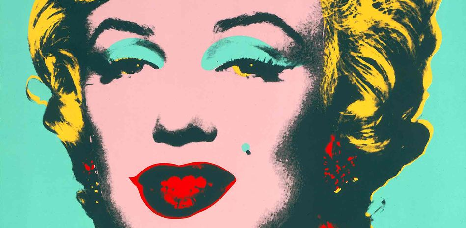 Andy Warhol, Marilyn, detail, 1967, colour silk-screen print from a 10-part portfolio