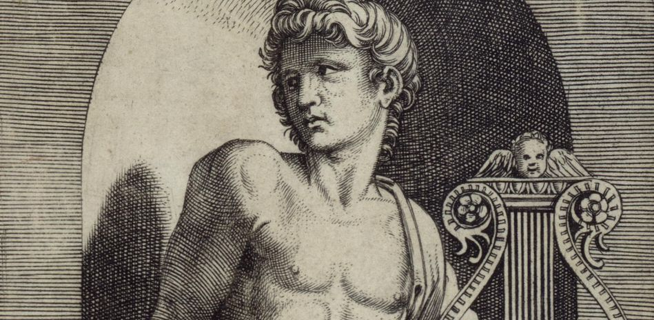 Marcantonio Raimondi, Apollo, c. 1512, copper engraving