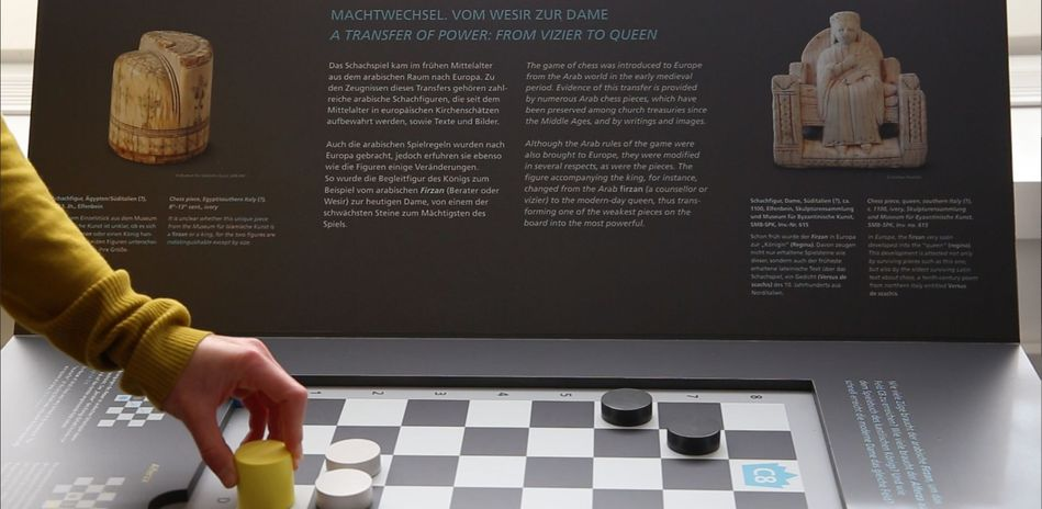 On view: Interactive panel on the history of the game of chess between North Africa and Europe
