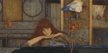Fernand Khnopff, I lock my door upon myself, Detail, 1891