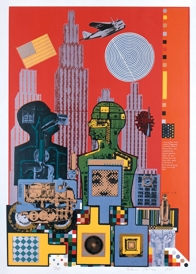 <strong>Eduardo Paolozzi</strong>, Wittgenstein in New York (aus: As is When), 1965, Siebdruck auf Vélinpapier, © Staatliche Museen zu Berlin, Kupferstichkabinett / Jörg P. Anders, © Trustees of the Paolozzi Foundation, Licensed by / VG Bild-Kunst, Bonn 2020