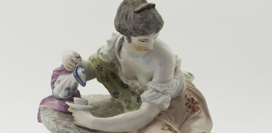 The Coffee Drinker (detail), Ludwigsburg, Johann Christian Wilhelm Beyer, porcelain