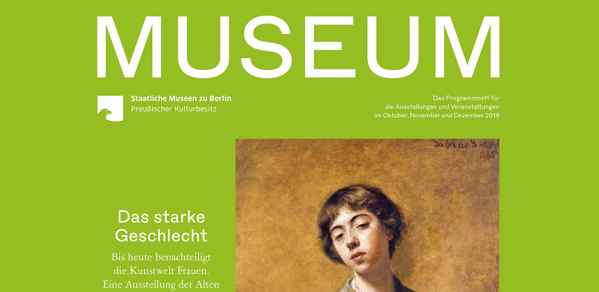 MUSEUM IV 2019 – The program of the Staatlichen Museen zu Berlin is out now!