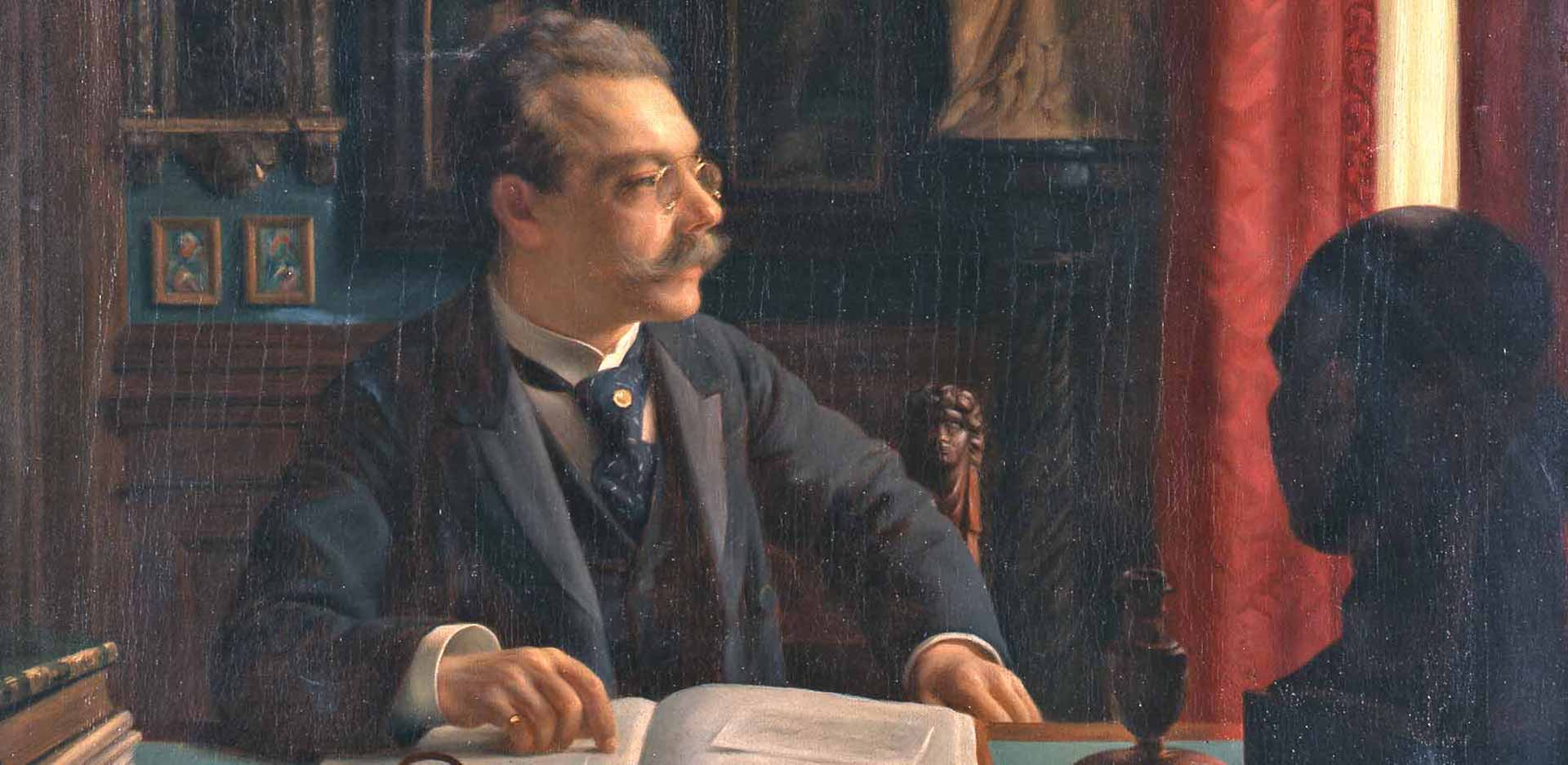Willi Döring: James Simon at His Desk in His Study (1901)