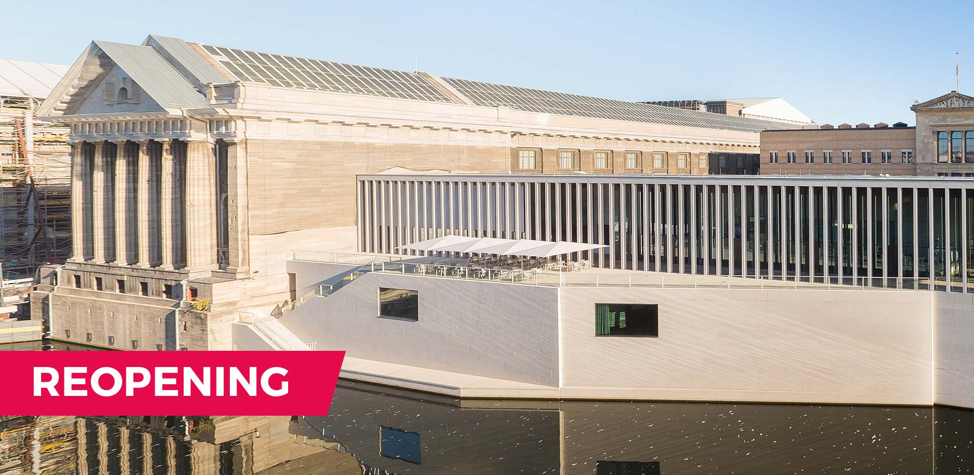 The James-Simon-Galerie and the Pergamonmuseum on the Museumsinsel Berlin