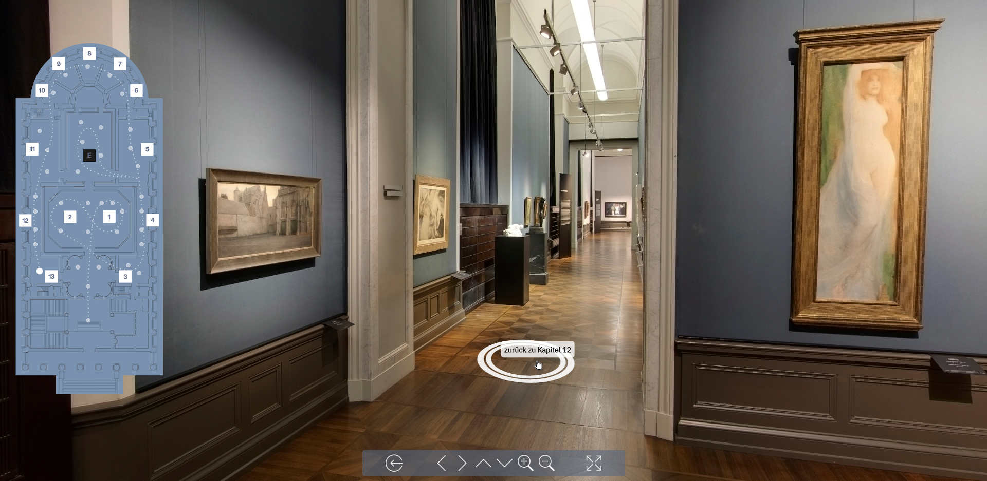 """360-degree tour through the special exhibition """"Decadence and Dark Dreams: Belgian Symbolism"""" at the Alte Nationalgalerie"""